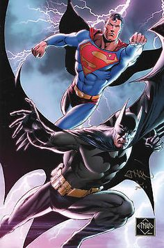 #Batman & #superman print hand #signed by ethan van sciver,  View more on the LINK: http://www.zeppy.io/product/gb/2/151524806226/