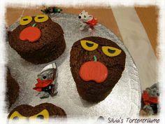 Silvia's Tortenträume: Sprudelkuchen Minikuchen Halloween Spinne Geister Augen Rezept