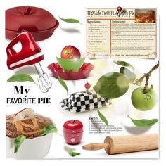 """Apple of my eye~~Pie"" by drenise ❤ liked on Polyvore featuring interior, interiors, interior design, home, home decor, interior decorating, JCPenney Home, Williams-Sonoma, Prima Design and KitchenAid"