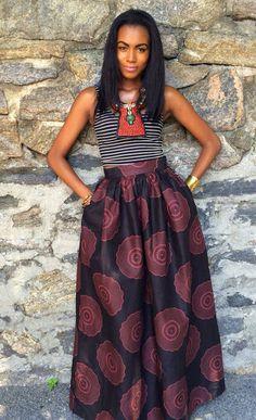 African Print skirt Chenburkettny etsy.com