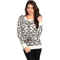 """⭐️⭐️ COMING SOON ⭐️⭐️ This funky sweater will be available soon! This lovely long sleeve top features abstract theme design with ribbed trim and slim, stretch fit.   Fabric content: 80% acrylic 15% metallic 5% wool   Please """"LIKE"""" to be notified of its arrival!!  ❌ NO TRADES ‼️ PRICE FIRM Sweaters"""
