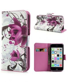 apple-iphone-5c-lederen-wallet-hoesje-lotus-bloem_1