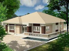 บ้าน,แบบบ้าน,บ้านสร้างจริง,ผลงานสร้างบ้าน,บริษัทรับสร้างบ้าน,สร้างบ้าน Beautiful House Plans, Beautiful Homes, House Made, My House, Dream Home Design, House Design, French Doors With Sidelights, 5 Bedroom House Plans, House Elevation