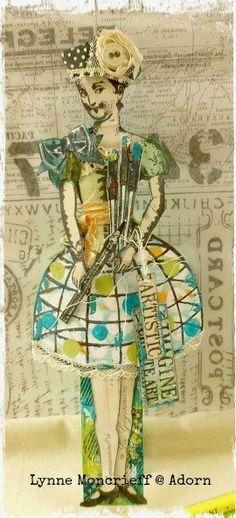 Lynne Moncrieff's feature in Somerset Studio Sept/Oct 2016 using her Paris Flea art stamps!