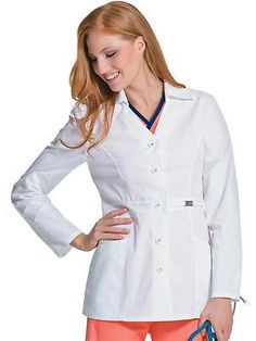 The lab coat from Urbane that's polished to professional perfection.