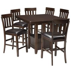 Haddigan 7 Piece Counter Height Set   Weekends Only Furniture and Mattress