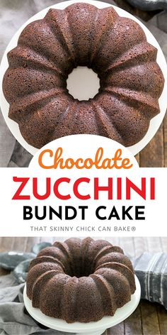 Chocolate Zucchini Bundt Cake - the addition of grated zucchini makes for a moist, delectable chocolate cake! You'll never have to reveal the secret ingredient as it tastes like a superb Chocolate Bundt Cake!