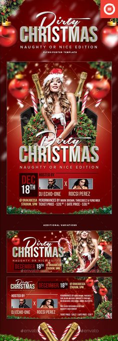 Christmas Party Flyer  More Party Flyer Flyer Template And