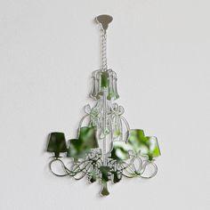 lasercut mirror chandelier