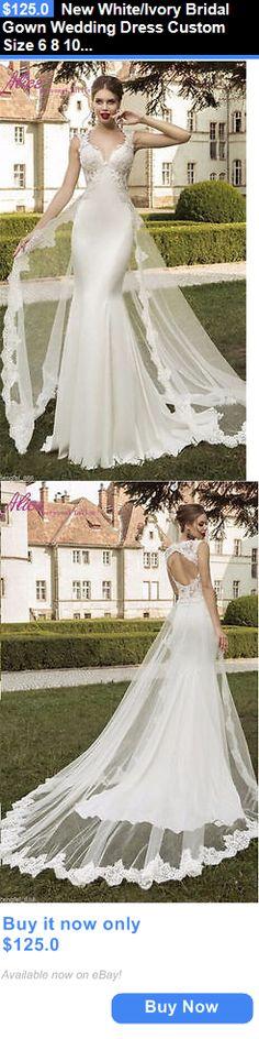 Wedding Dresses: New White/Ivory Bridal Gown Wedding Dress Custom Size 6 8 10 12 14 16+++++ BUY IT NOW ONLY: $125.0