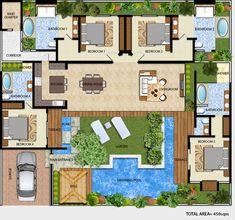 House Plan 20700033 Coastal Plan 4,018 Square Feet, 4