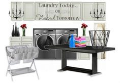 Check out this moodboard created on @olioboard: Laundry today Or Naked Tomorrow :) by teejayinteriors