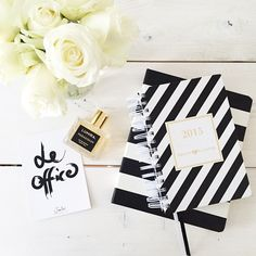 #stationary #stripes #blackandwhite #notebook #planner