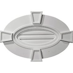 """29""""W x 20""""H x 1 3/4""""P, Horizontal Oval Gable Vent with Keystones - Functional - Urethane Gable Vents - Polyurethane - About Our Products 866-607-0453"""
