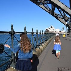 Passing under the Sydney Harbour Bridge towards the Opera House - exploring around the Sydney Harbour and Rocks area is always an adventure! . . #sydneyharbourbridge  #sydneyoperahouse  #exploringsydney  #therocks  #circularquay