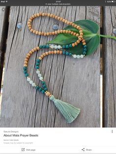 About Mala Prayer Beads taurus mala beads Homemade Jewelry, Diy Jewelry, Beaded Jewelry, Jewelry Necklaces, Jewelry Design, Fashion Jewelry, Jewelry Making, Beaded Bracelets, Homemade Necklaces