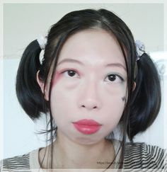 Harley Quinn Suicidé squad inspired makeup on Asian face