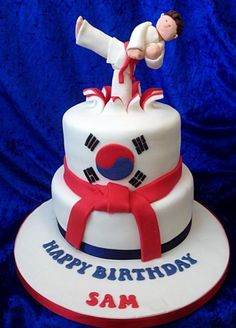 Karate Theme Birthday Cake cakepins.com