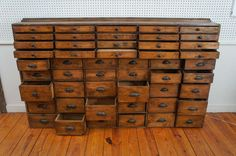 50 Drawer Pharmacy Apothecary | From a unique collection of antique and modern apothecary cabinets at https://www.1stdibs.com/furniture/storage-case-pieces/apothecary-cabinets/