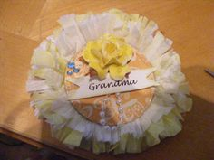 i made these grandma corsages for my nieces babyshower