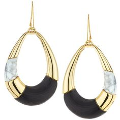 Alexis Bittar Lucite Colorblocked Teardrop Earrings (455 BRL) ❤ liked on Polyvore featuring jewelry, earrings, black, block earrings, lucite jewelry, taper earrings, acrylic jewelry and teardrop shaped earrings