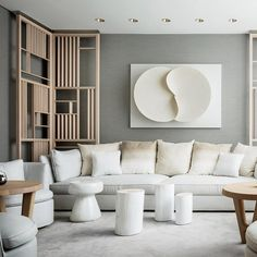 Yabu Pushelberg - A glimpse into the soothing spa lounge at the Four Seasons New York Downtown.
