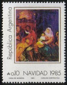 Estampilla Navidad Argentina ...