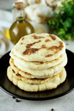 Naan Recipe Without Yogurt - Foods Guy Make Naan Bread, Homemade Naan Bread, Recipes With Naan Bread, Naan Recipe Without Yogurt, Vegan Baking, Bread Baking, Nana Bread, Easy Cooking, Cooking Recipes