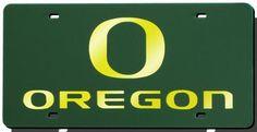 Oregon Ducks Green Laser Cut License Plate #OregonDucks