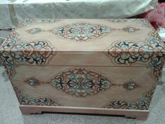 Paint Furniture, Furniture Makeover, Wooden Storage Boxes, Certificate Design, Decoupage Box, Painted Boxes, Furniture For Small Spaces, Painting On Wood, Crafts To Make