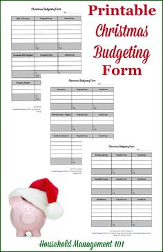 Free printable Christmas budgeting form, courtesy of Household Management 101 Christmas Planning, Christmas On A Budget, Holiday Fun, Christmas Holidays, Christmas Crafts, Holiday Ideas, Christmas Ideas, Free Christmas Printables, Free Printables