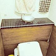 Bathroom/DIY/トイレ改造計画/タンクレス DIYのインテリア実例 - 2014-04-29 08:32:05 RoomClip (ルームクリップ)