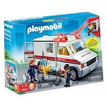 Come to the rescue for people in need and then transport them to the hospital with this Playmobil Rescue Ambulance. This Playmobil set inspires imaginative play and learning fun with a complete Lights And Sirens, Playmobil Sets, Top Toys, Toys R Us, Lego City, Toddler Toys, Recreational Vehicles, The Unit, Children