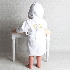 0f11489987 Personalised Royal Baby White Hooded Robe. Perfico · Baby Bath Robes