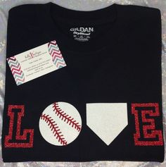 glitter love baseball tshirt many colors by kallysbowtique on etsy 1500 - Baseball Shirt Design Ideas