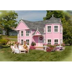 Saras Victorian Mansion Playhouse 8 x 16    One day, Keelyn will have this, with a pony on the side.