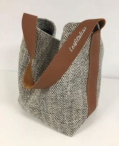 Denim Bag, Purse Patterns, Leather Handle, Tan Leather, Leather Fabric, Shopper Bag, Tote Bag, Cloth Bags, Handmade Bags