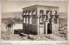 Auguste-Rosalie Bisson - The Hypaethral Temple of Philae, 1869 Temple, Rosalie, Visit Egypt, Auguste, History Of Photography, French Photographers, Old Photos, Bali, Pictures