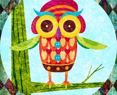 Cat & Owl by Lisandro Trepeu (via Creattica)