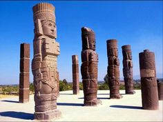 Statues at Tula, Hidalgo site.