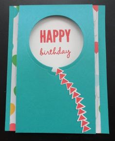 Cards 392 -PENNY TOKENS STAMPIN SPOT: Celebrate Today Birthday Wishes!