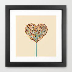 Tree of love Framed Art Print by kuss kuss - $31.00