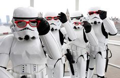 Even Stormtroopers pose.