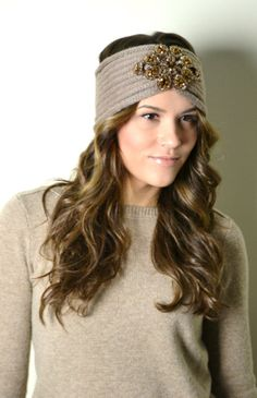TAUPE Bohemian Knitted Headband Boho Hair Accessories Knit Ear Warmer Head Bands Hair Wrap Turband