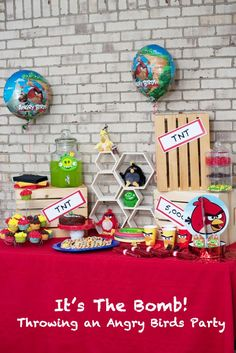 Love Angry Birds? This Angry Birds party plan features ideas for food, decorations, and activities. It even has some printables! #AngryforSavings #ad