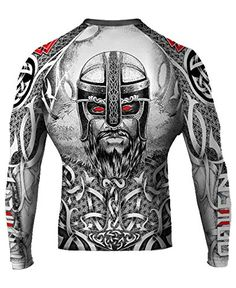 Raven Fightwear Mens Norseman MMA BJJ Rash Guard White Medium -- More info could be found at the image url.(This is an Amazon affiliate link and I receive a commission for the sales)