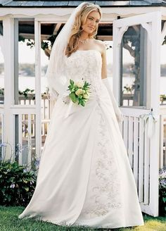 Wedding Dress Beaded Lace Corset with Gathered Satin Overlay | PIN Blogger