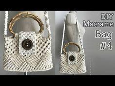 DIY Macrame Bag # 4 / Macrame Bag # 4 – The best ideas Crochet Bolero, Crochet Diy, Crochet Hooks, Macrame Purse, Macrame Knots, Diy Bags Purses, Diy Purse, Macrame Patterns, Knitting Patterns