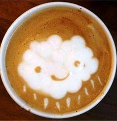 .·:*¨¨*:·.Coffee ♥ Art.·:*¨¨*:·. Rain cloud latte Cute #latteart
