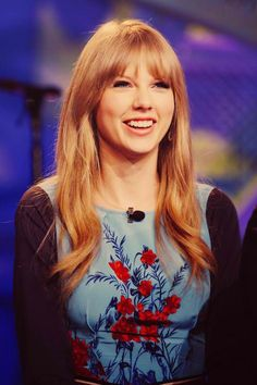 Taylor Swift - The girl that won't stop smiling.
